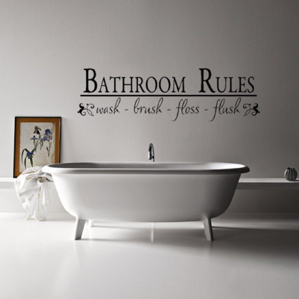 Likeable Bathroom Wall Decorations Of Decor Sticker