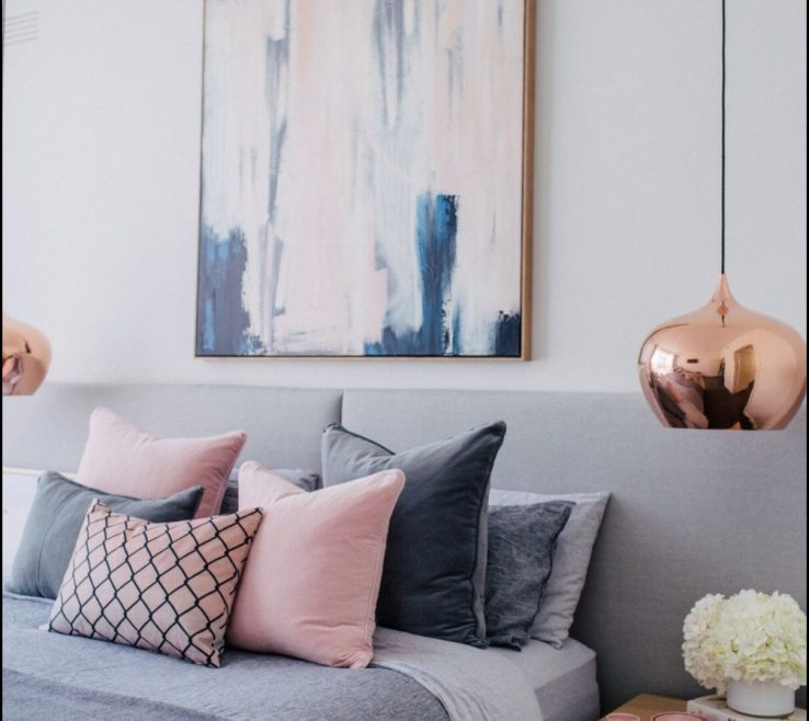 Likeable Blue Gray Bedroom Of And Pink