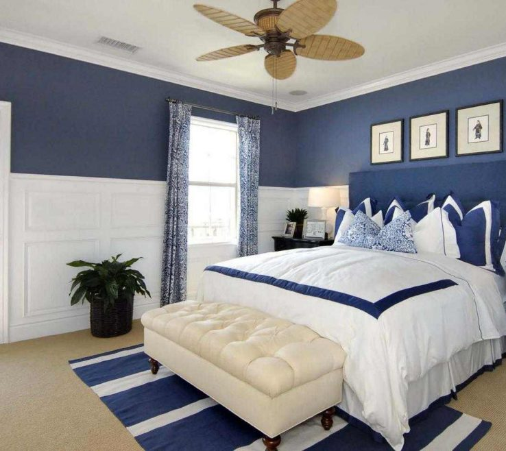 Likeable Blue Master Bedroom Of Paint Colors