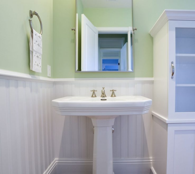 Likeable His And Hers Bathroom Sinks Of Pedestal Sink In A Traditional