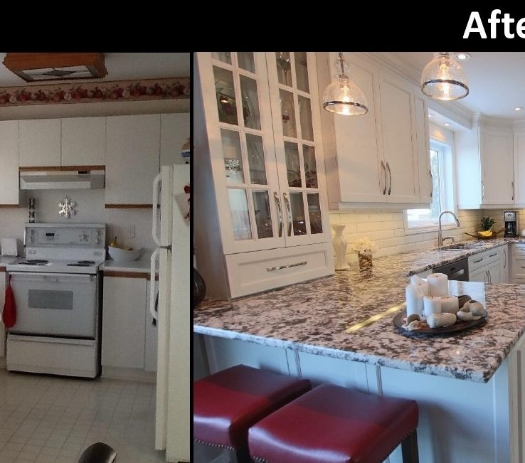 Likeable Kitchen Renovation Before And After Of 1