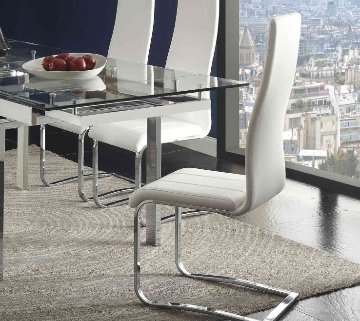 Likeable Mix And Match Dining Chairs Of Coaster & Chair White