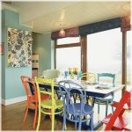 Likeable Mixed Dining Chairs Of Room Different Color Room Colorful Room Tables