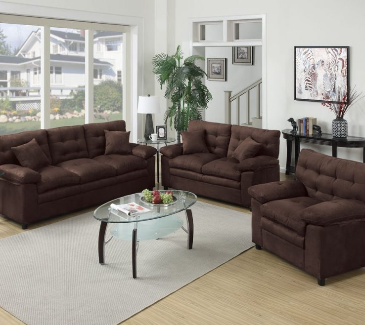 Living Room Set Ideas Of Piece Brown