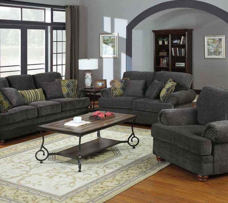 Living Room Set Ideas Of Coaster Colton Smokey Grey 504401 Livset At