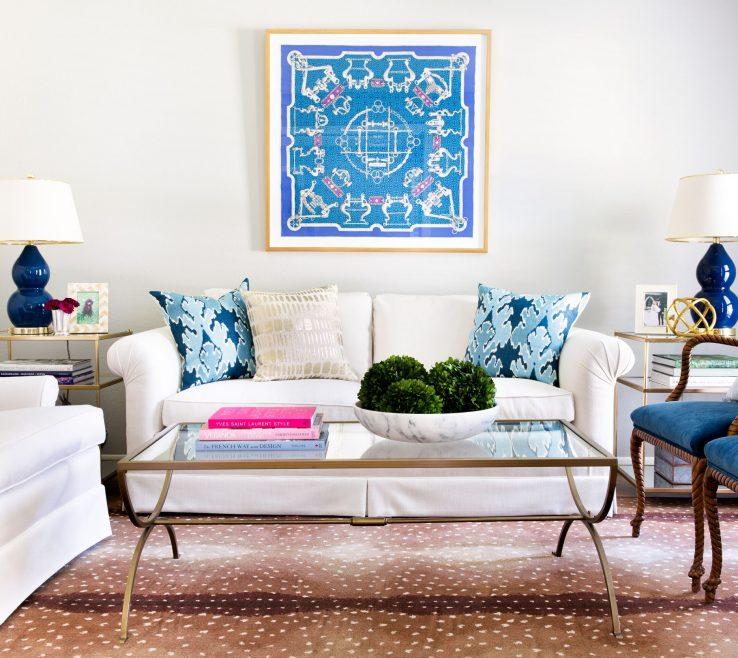 Living Room Tapestry Of Scarf Patterns Framed Frame Frames Prints