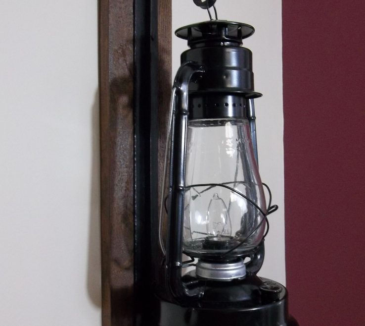 Living Room Wall Sconce Ideas Of Rustic Electric Lantern Sconce.
