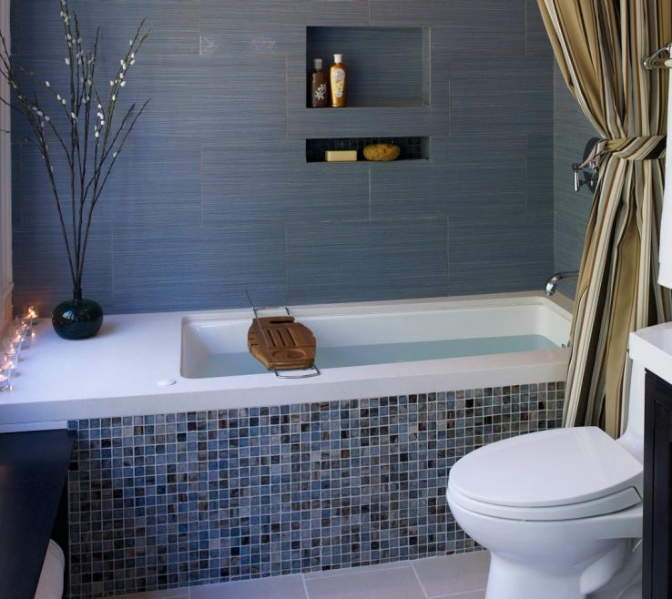 Lovely Bathroom Tub Ideas Of Tile On Bathtub Side