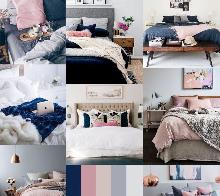 Lovely Blue Gray Bedroom