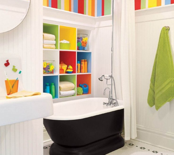Lovely Colorful Bathrooms Of Colourful Kids Bathroom Paint Colour Mixed