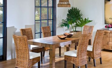 Lovely Dining Table With Different Chairs Of Bamboo And Price – Minimalist Bamboo And