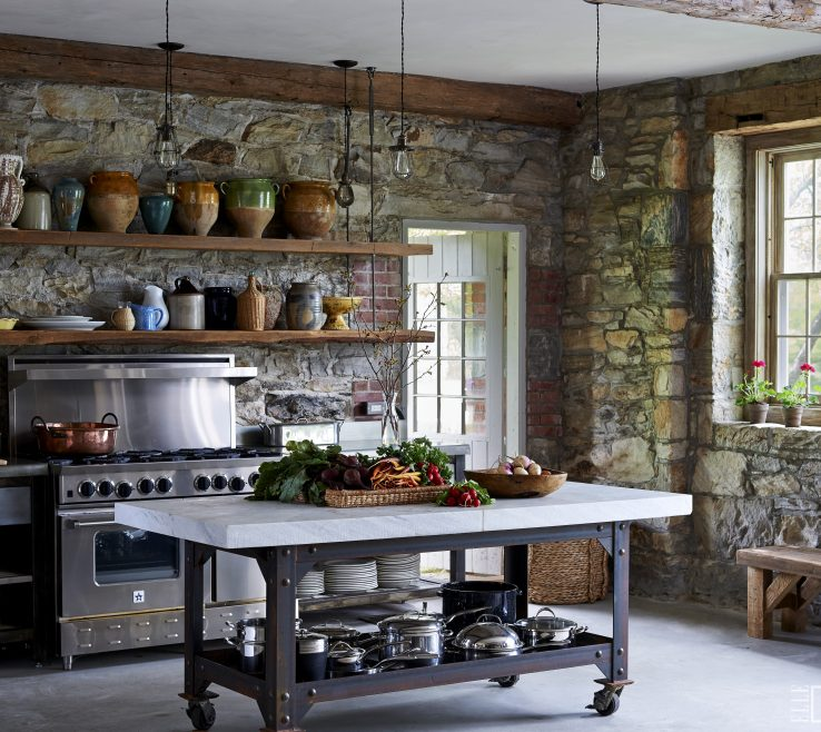 Lovely Rustic Style Kitchen Of Contemporary