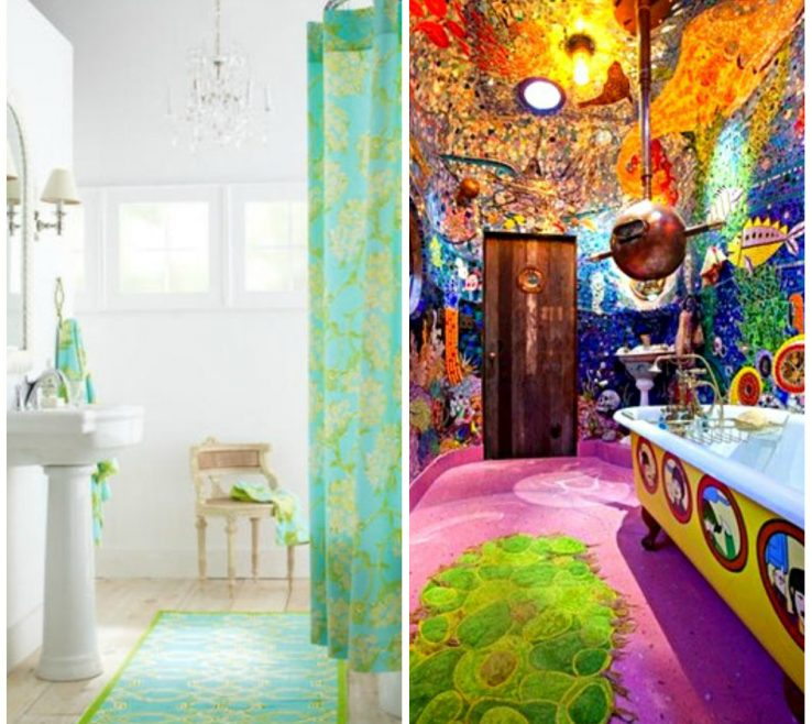 Magnificent Colorful Bathrooms Of More Photos To Bathroom Rugs