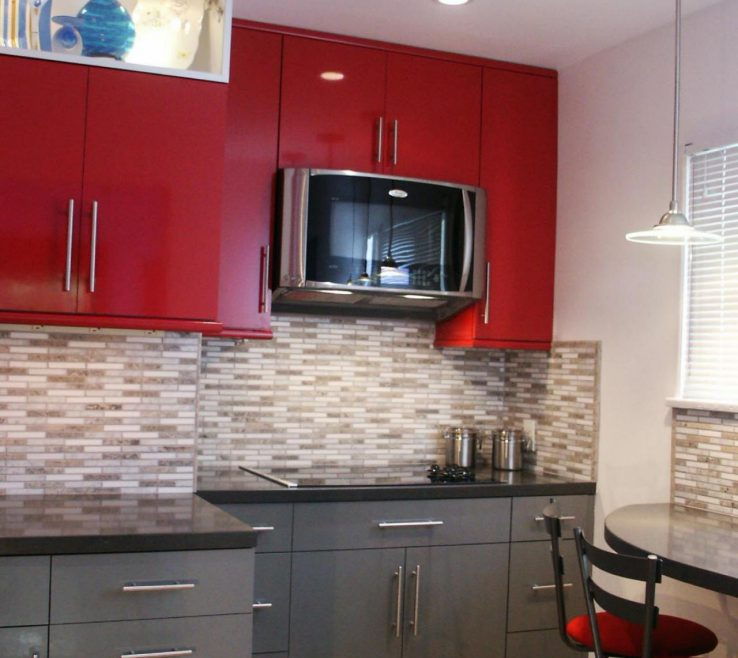 Magnificent Kitchen S For Small Kitchen Of Bold Red