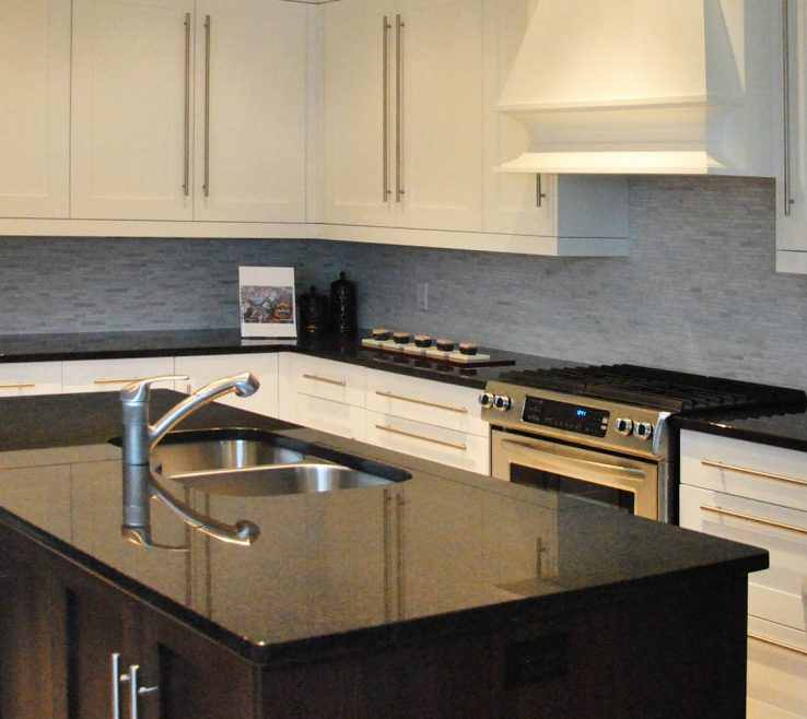 Magnificent Kitchens With Black S Of Absolute Granite Brown And White Granite