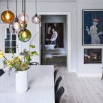 Magnificent Lighting Over Dining Room Table Of Beautiful Pendants The In Different Colors