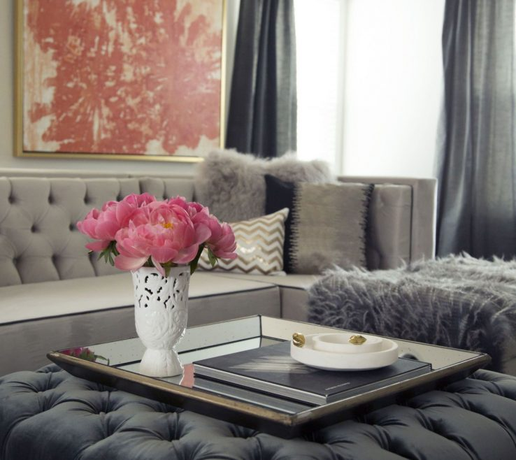 Magnificent Ottoman Ideas For Living Room Of Before After See How A Fashion