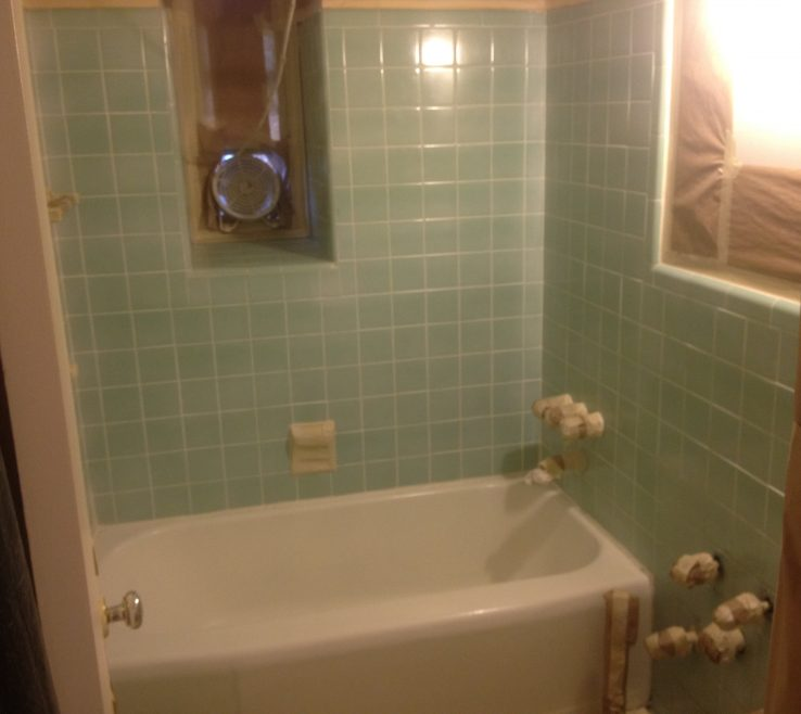 Magnificent Reglazing Bathroom Tile Of And Laminate Kitchen S. Before