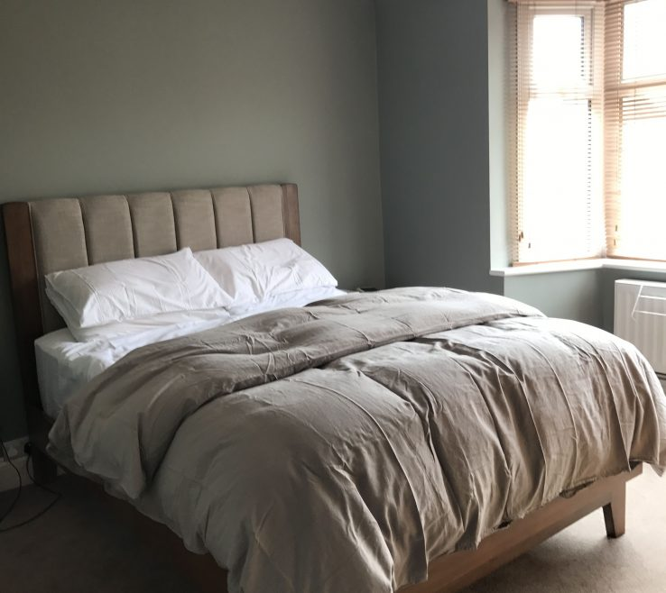 Master Bedroom Paint Of Painted In Farrow And Ball Pigeon No.