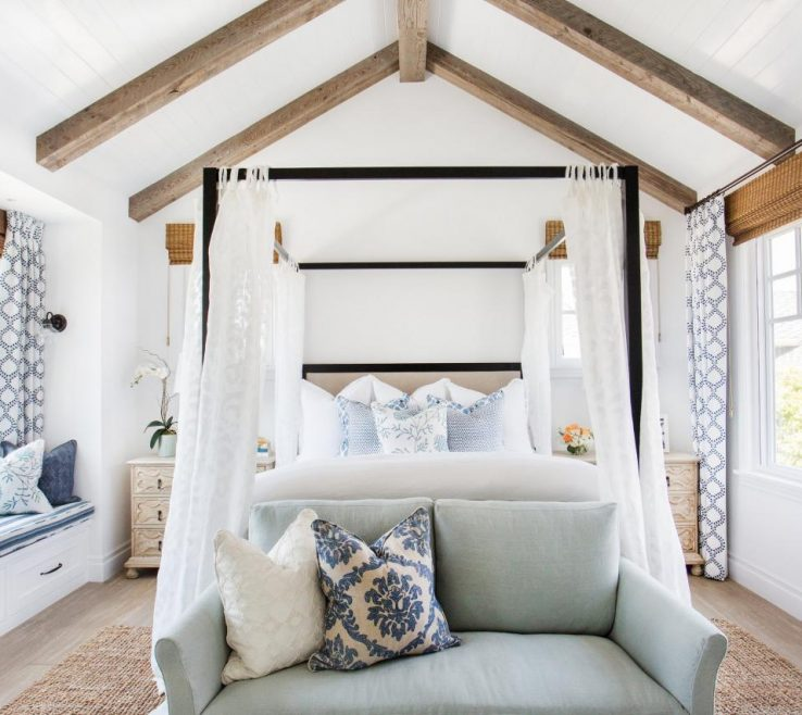 Master Bedroom Suite Of See How Coastal Accents Create The Ultimate