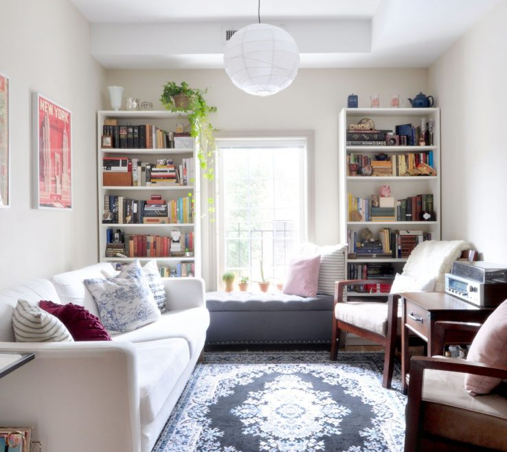 Mesmerizing Narrow Living Room Ideas Of Small Room Mid Century Mixed With Ikea Furniture