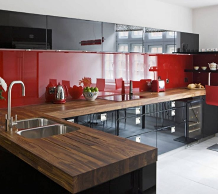 Mesmerizing Red Kitchens Of More 5 Great Black And Ideas