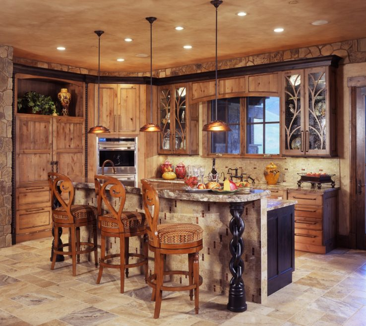 Mesmerizing Small Rustic Kitchen Of Island