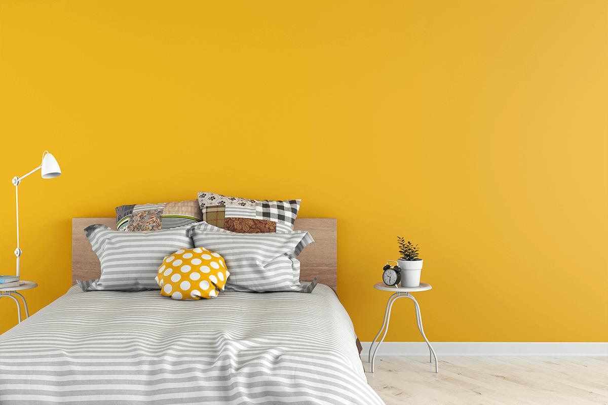 Yellow Bedroom Walls Of Wall
