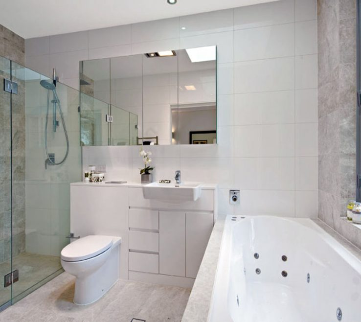 New Bathroom Designs Of Modern E Design With Dressing Corner Glass