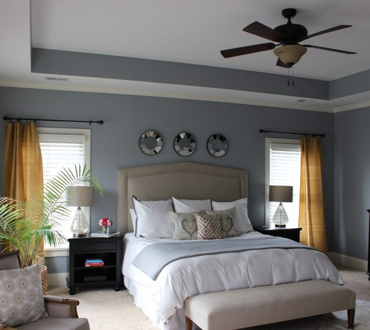 Picturesque Grey Master Bedroom Of Ideas Dark Idea Wooden Flooring Fluffy Pillow