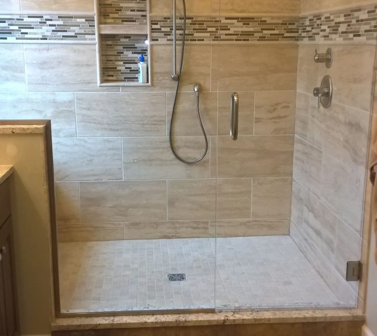 Picturesque Master Bathroom Showers Of Our New Large Bath Shower. Window And