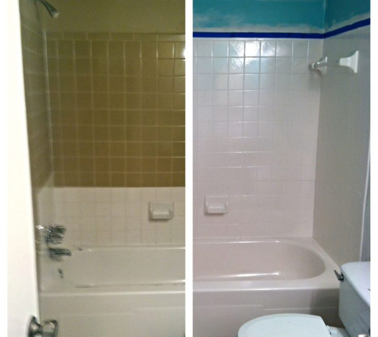 Picturesque Reglazing Bathroom Tile Of Diy Tub And How To Successfully