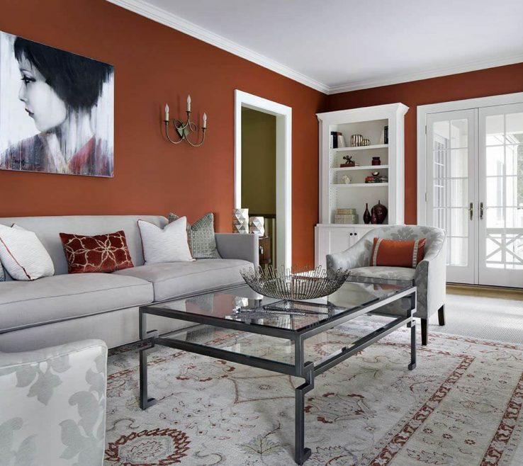 Remarkable Grey Color Living Room Of Although Red Can Boost Superbetite And Even
