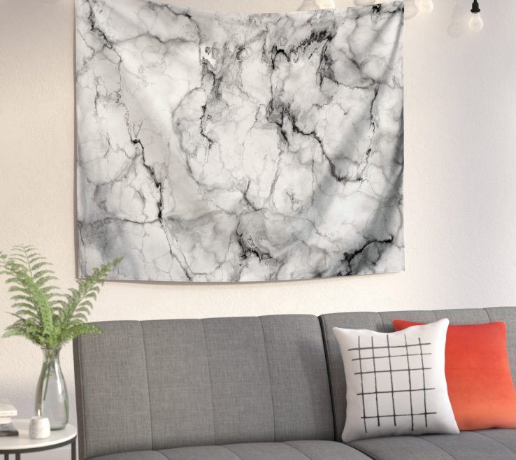 Remarkable Living Room Tapestry Of East Urban Home Marble No