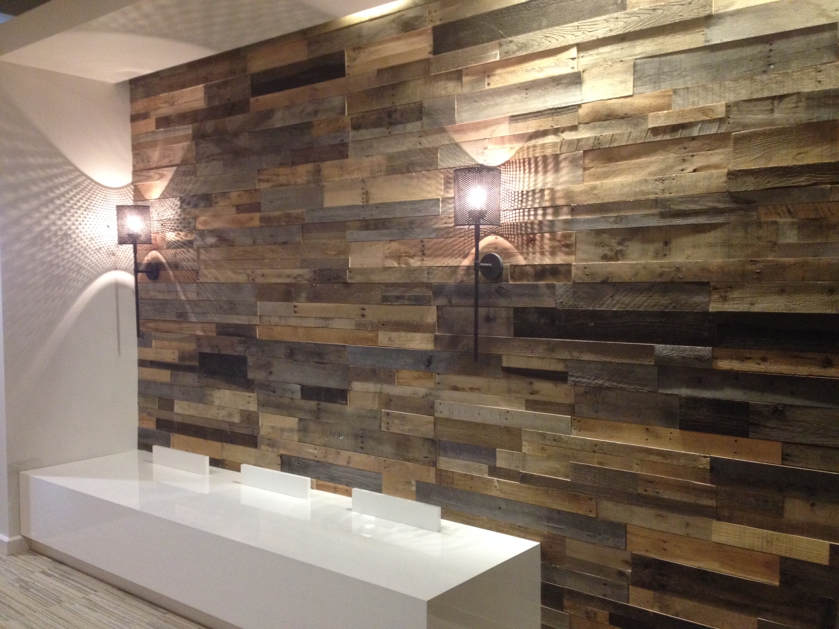 Remarkable Pallet Wall Bathroom Of Office Wood Acnn Decor