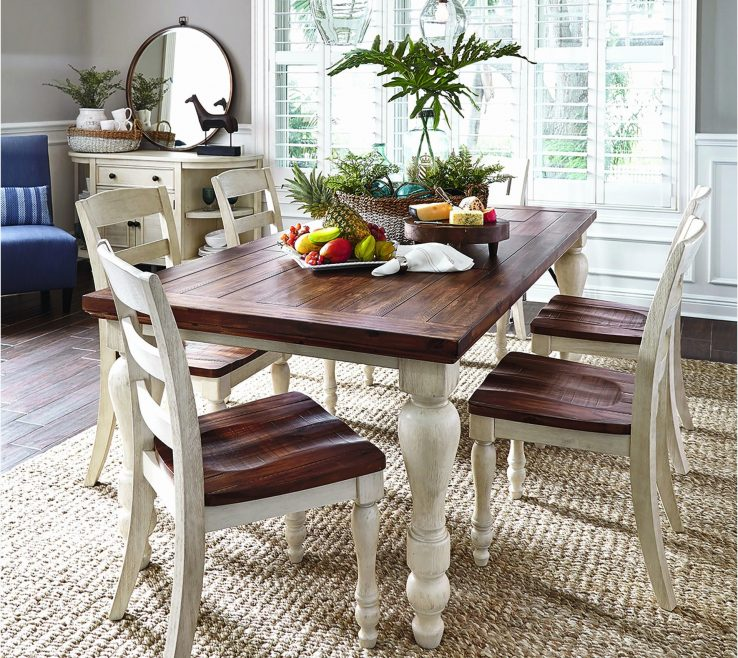Remarkable White Rustic Kitchen Of Enchanting Furniture Dining Room In Table New