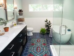 Interior Design For Renovated Bathrooms Of 7 Astoria Manor Apartment Rentals, Elizabeth Nj