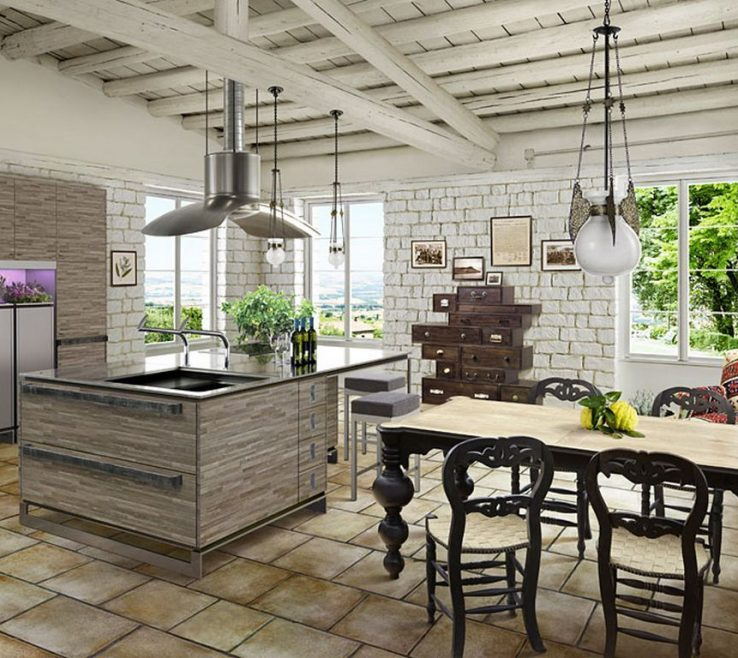 Rustic Style Kitchen Of Ino Provence Design Ideas
