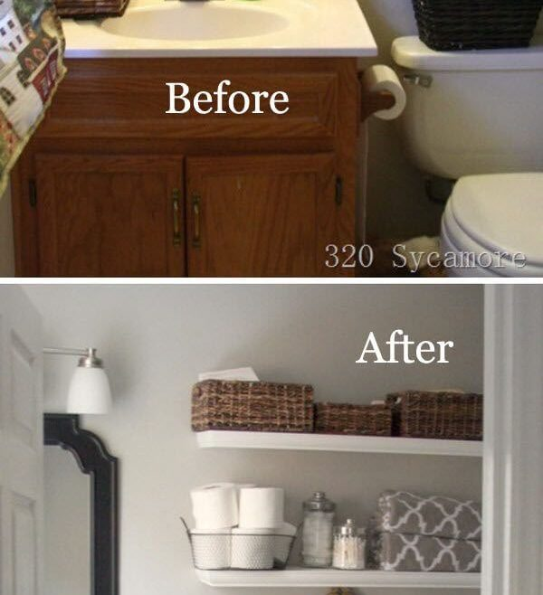 Small Bathroom Makeover Ideas Of Light Paint Does Wonders In Bathrooms