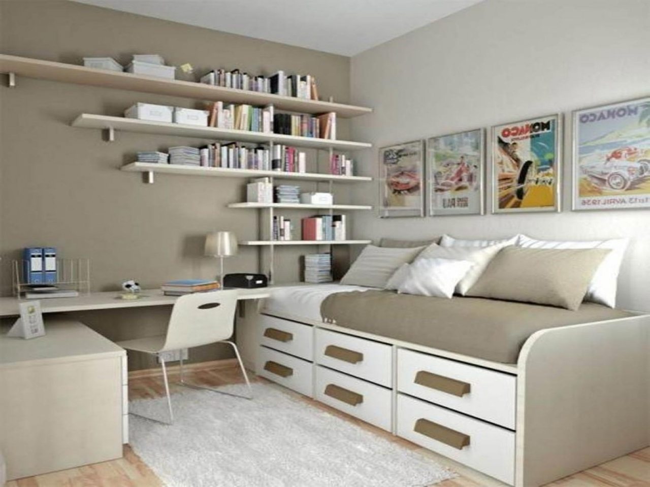 Small Bedroom Office Ideas - ACNN DECOR