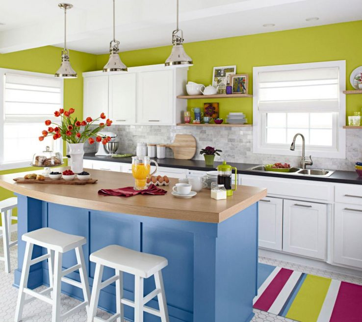 Small Kitchen Design With Island Of Perky And Playful