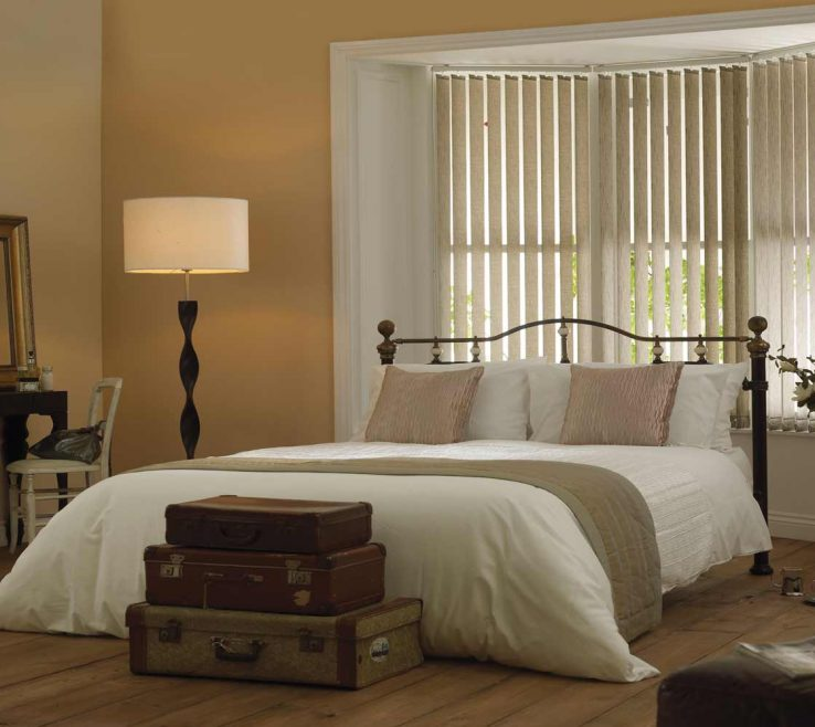 Sophisticated Bay Window Bedroom Of Vertical Blinds For Bedrooms 2018