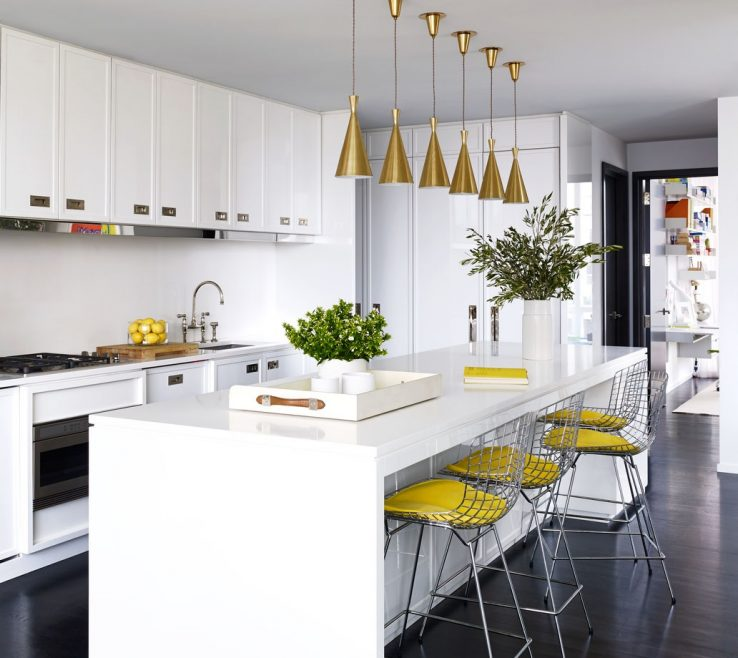 Sophisticated Contemporary Kitchen Ideas Of White With Island Beautiful Interior Design