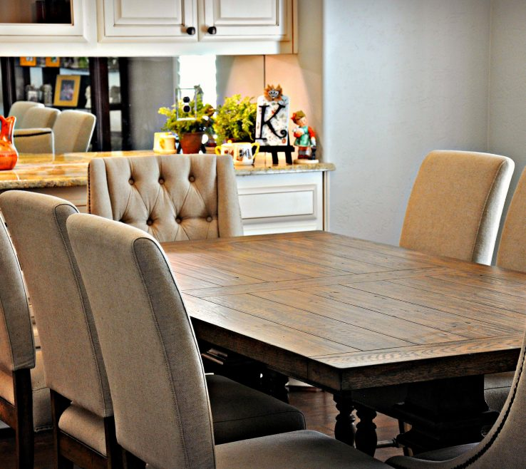 Sophisticated Dining Table With Different Chairs Of 1