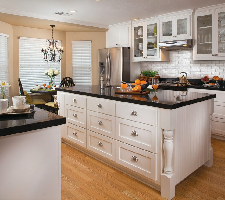 Sophisticated White Kitchen Black S Of Subway Diamond Backsplash Andamp