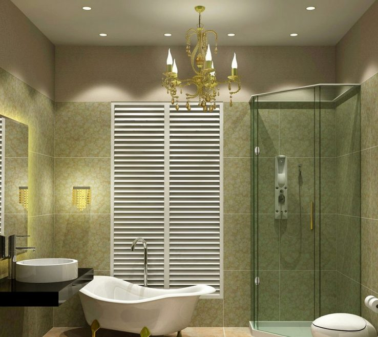 Superbealing Bathroom Chandeliers Ideas Of Alluring Green With Star Ceiling Lamps