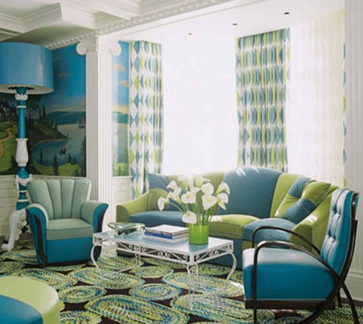 Superbealing Blue And Green Living Room Of Thehomestyleco
