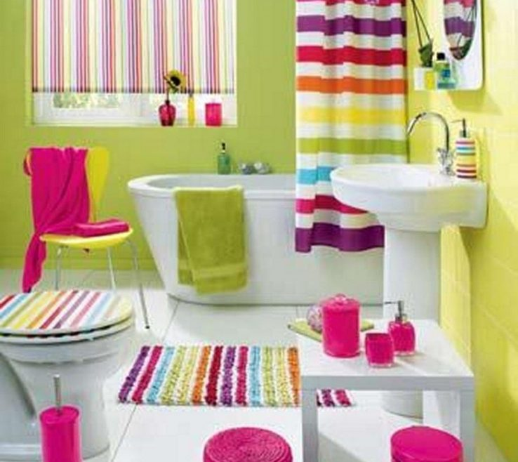 Superbealing Colorful Bathrooms Of Antique Stripped Bathroom Listed In: Shower Curtains,