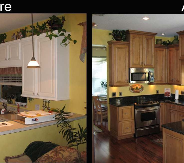 Superbealing Kitchen Renovation Before And After Of S Renovations
