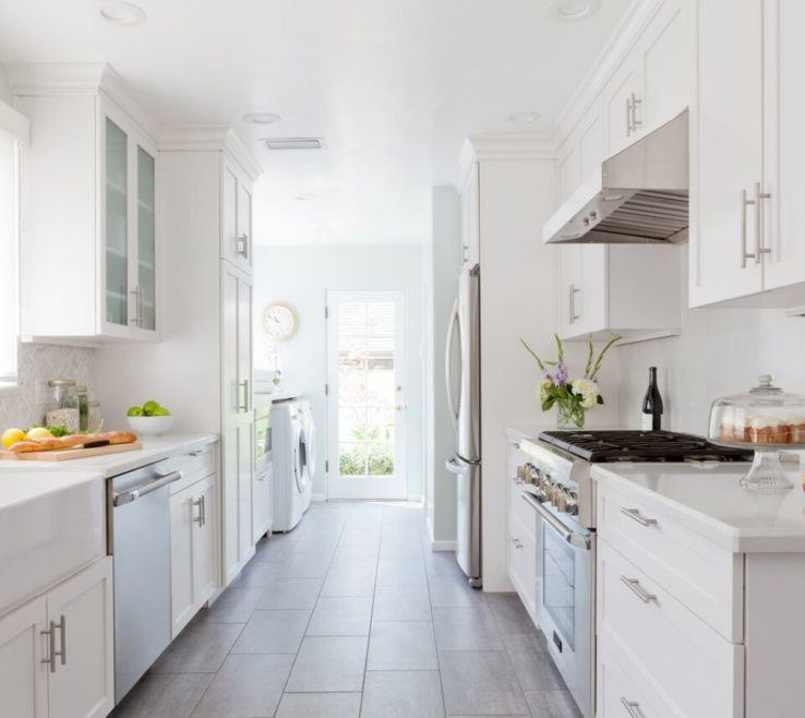Superbealing What Is A Galley Kitchen Of All White Homepolish Erin Kane